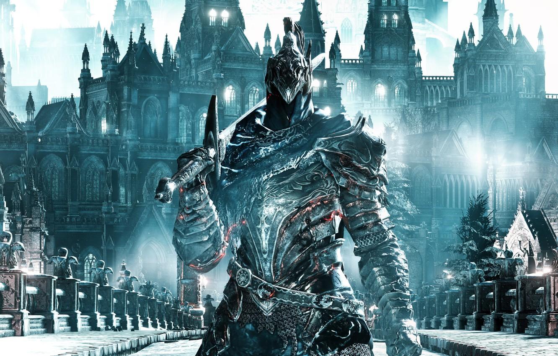 Photo wallpaper sword, game, armor, ken, blade, warrior, Dark Souls, pearls, Dark Souls 3, Dark Souls III