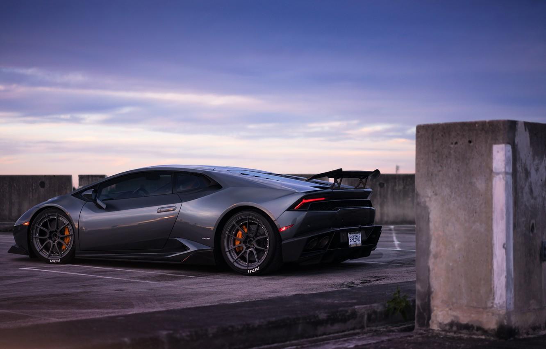 Photo wallpaper the evening, Lamborghini, evening, Huracan, Lamborghini Huracan