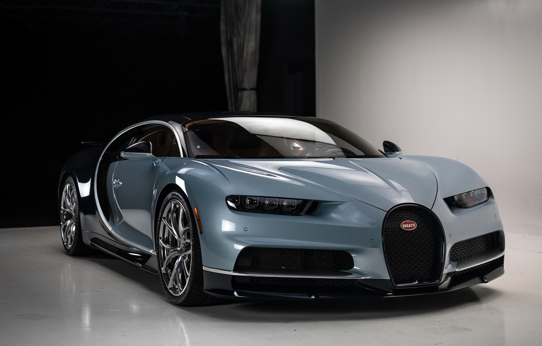 Photo wallpaper Bugatti, Chiron, Podium