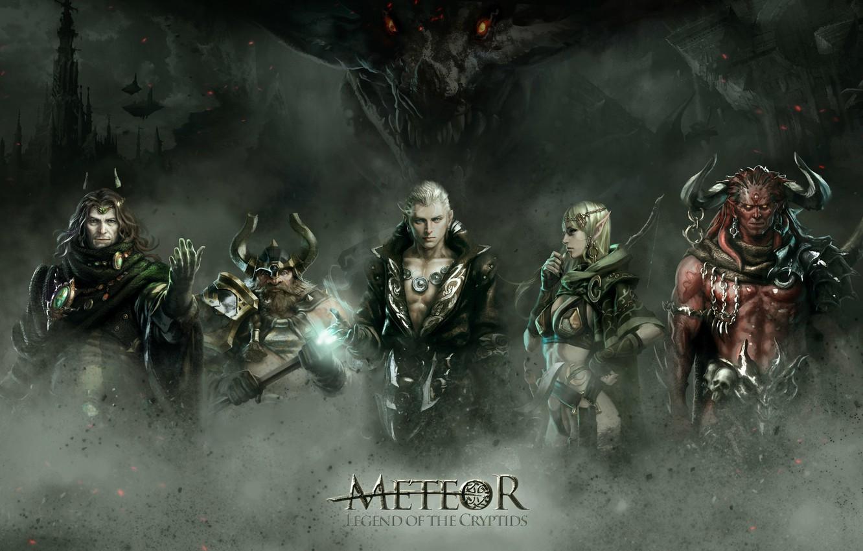 Photo wallpaper art, fantasy, battle, RPG, Legend of the Cryptids, Meteor, Choi Yongjae