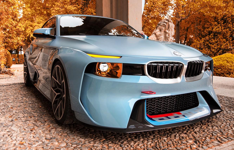 Photo wallpaper Concept, Auto, Autumn, BMW, Machine, turbo, Lights, 2002, The front, New, BMW 2002, BMW 2002 …