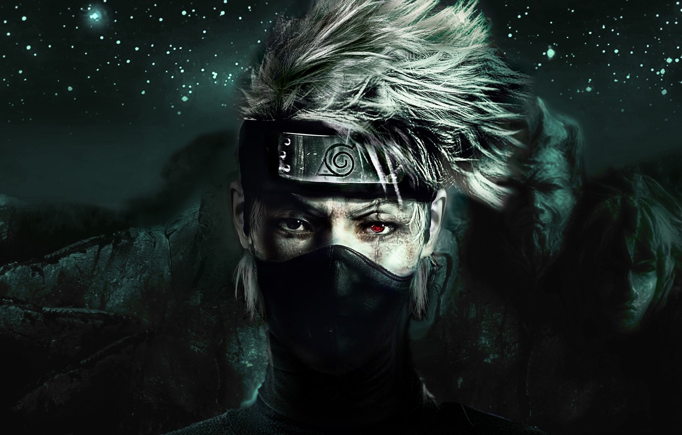 Photo wallpaper Naruto, anime, sharingan, ninja, manga, shinobi, Kakashi,