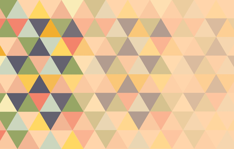 Photo wallpaper pattern, triangles, colorful, abstrakciya