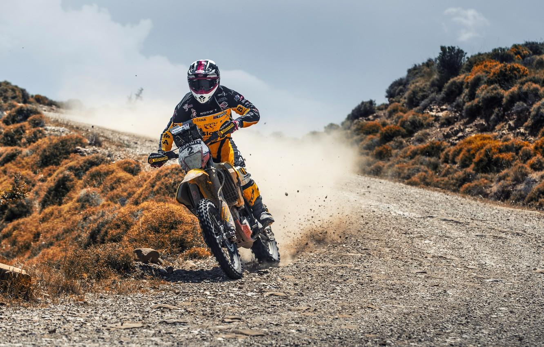 Photo wallpaper Road, Dust, Sport, Speed, Motorcycle, Racer, Moto