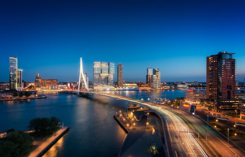 Photo wallpaper Netherlands, Holland, Rotterdam