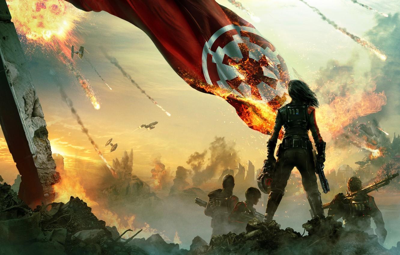 Wallpaper Fire The Battle Warriors Banner Star Wars