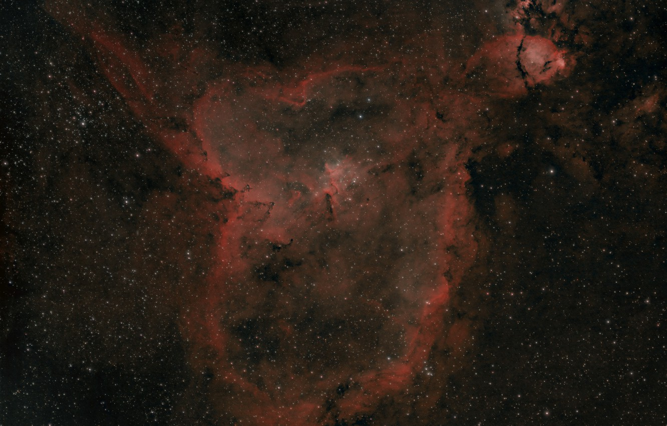 Photo wallpaper Heart, The Milky Way, emission nebula, in the constellation, sleeve, Is, Perseus, in the galaxy, …