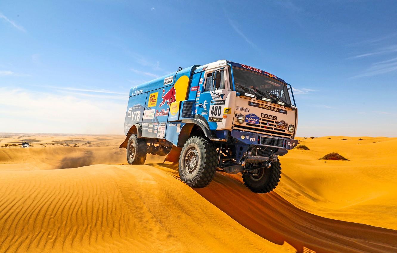 Photo wallpaper Sand, Sport, Day, Kamaz, Rally, Dakar, Dakar, Rally, KAMAZ, 400, Master, Dune