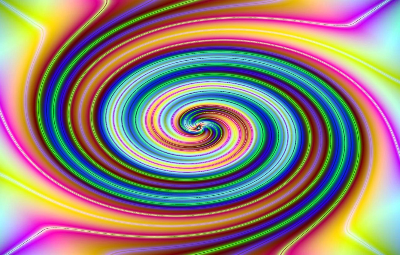Photo wallpaper abstraction, spiral, art, color