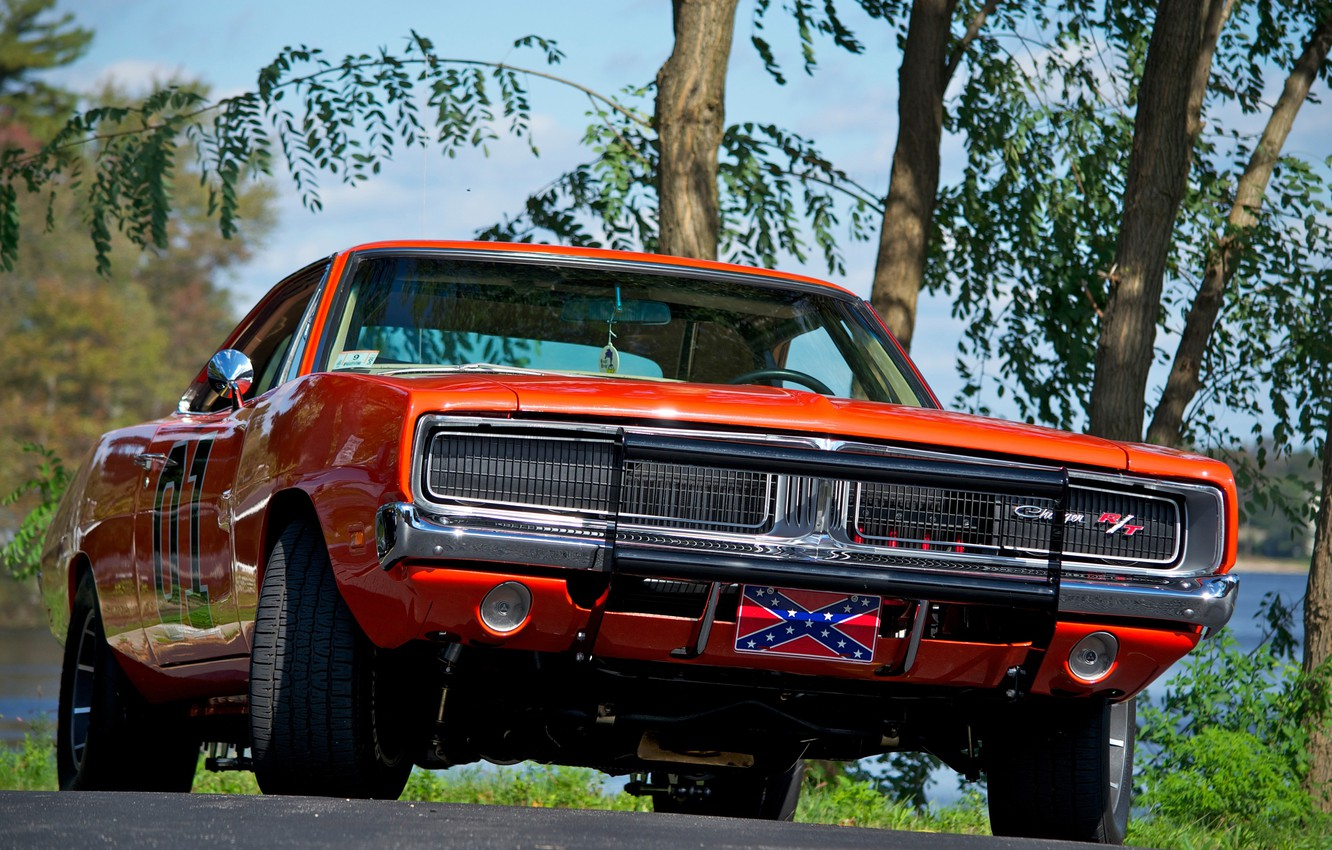 Photo wallpaper 1969, Dodge, Orange, Charger, Muscle car, General Lee, The Dukes of Hazzard