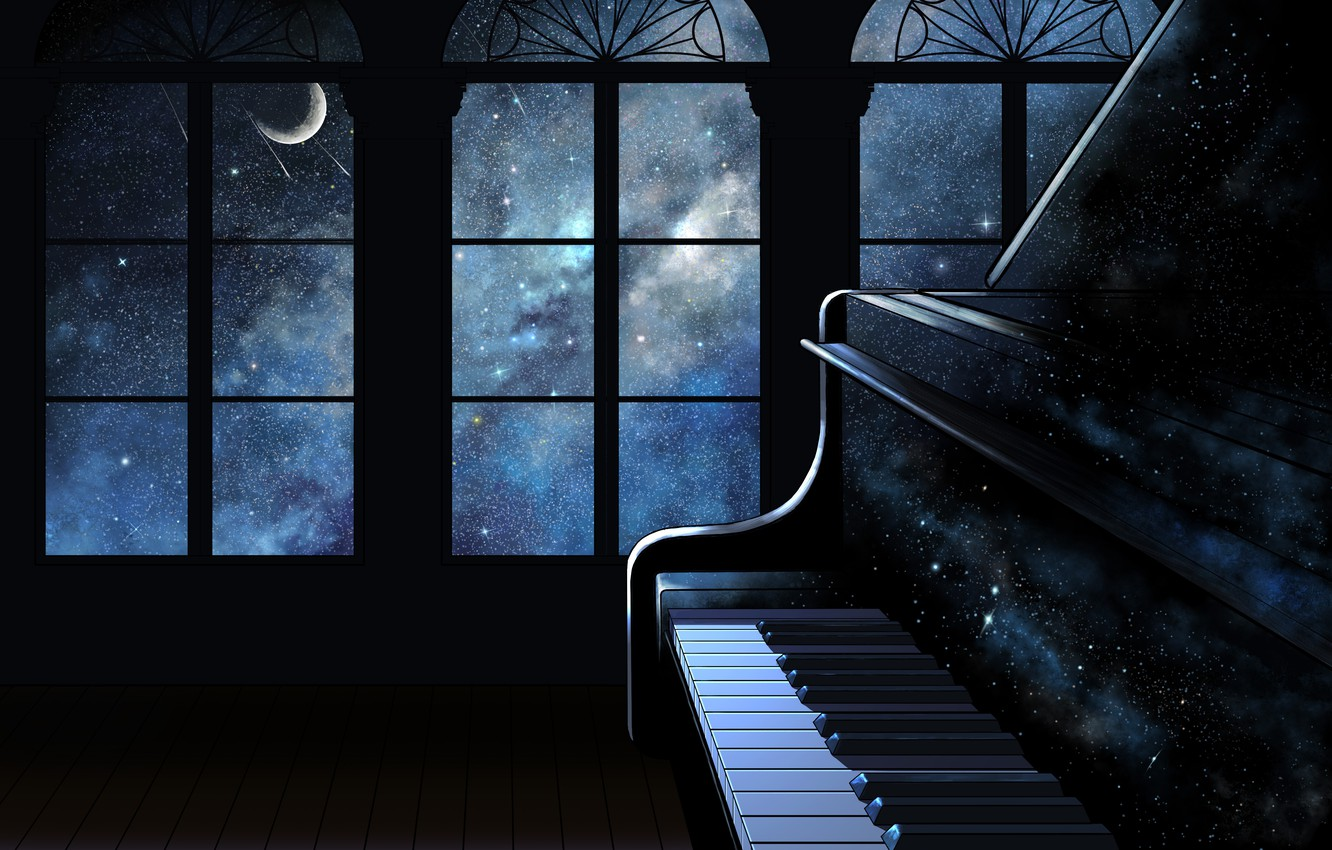 Wallpaper space, interior, piano images