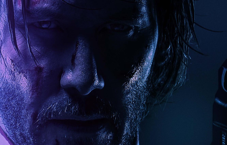 Wallpaper Look Gun Eyes Beard Keanu Reeves Keanu Reeves John