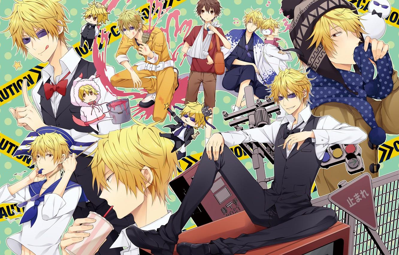 Photo wallpaper anime, art, guy, Heiwajima Shizuo, Shizuo Heiwajima, Durarara!!