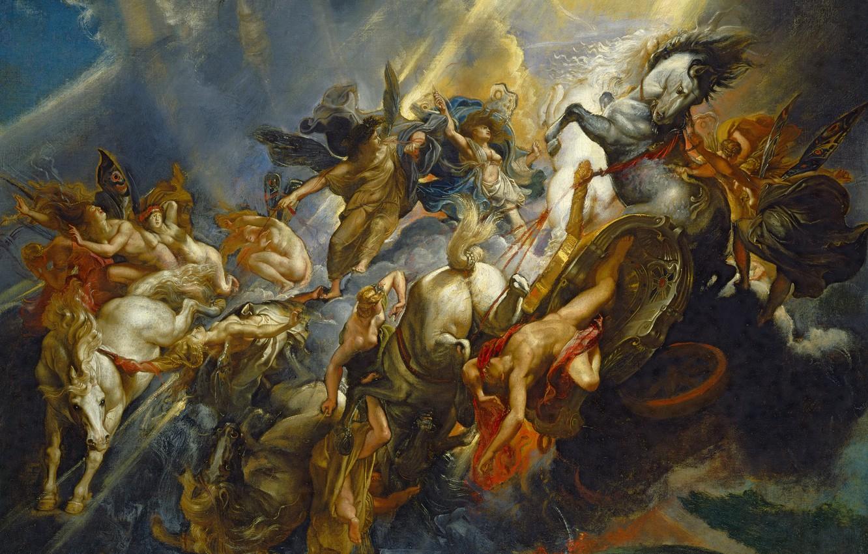 Photo wallpaper picture, Peter Paul Rubens, mythology, The Fall Of Phaeton, Pieter Paul Rubens