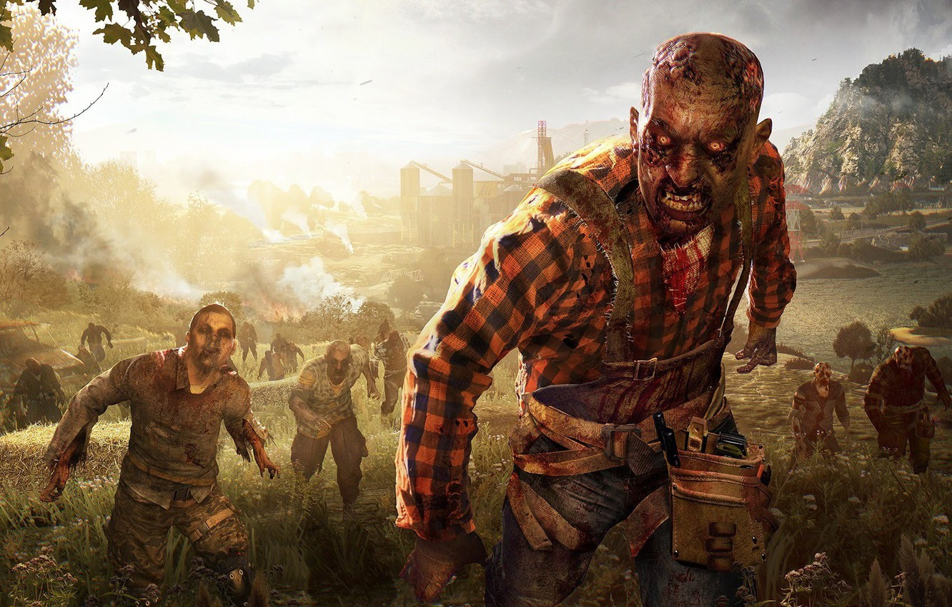 Wallpaper Zombie Blood Game Undead Biohazard Dying Light