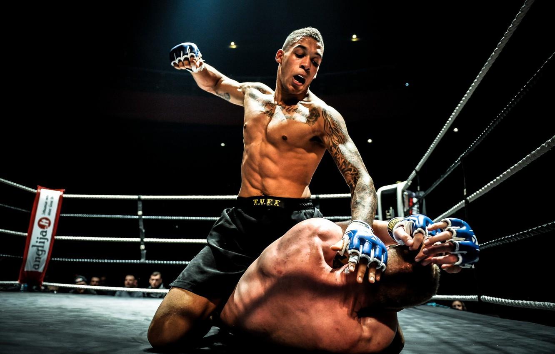 Photo wallpaper MMA, Fight, Ground