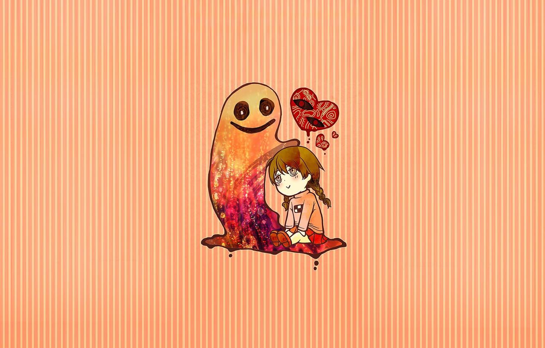Photo wallpaper background, anime, girl, Yume Nikki