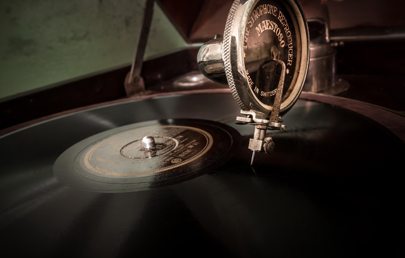 Photo wallpaper music, vinyl, record player