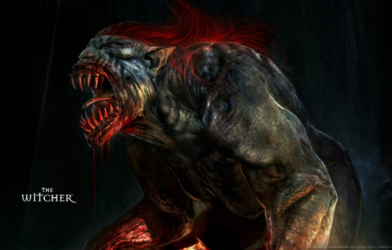 Wallpaper Teeth, Monster, The Witcher, Striga images for desktop, section  игры - download