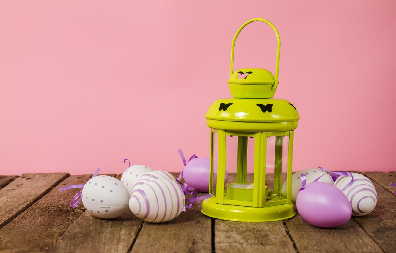 Photo wallpaper eggs, spring, Easter, wood, spring, Easter, eggs, decoration, Happy, lantern