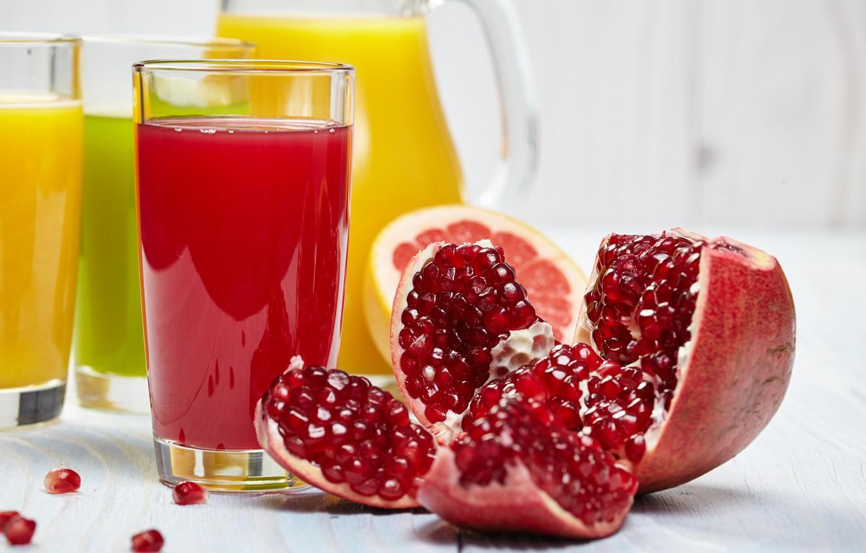 Photo wallpaper juice, drink, garnet