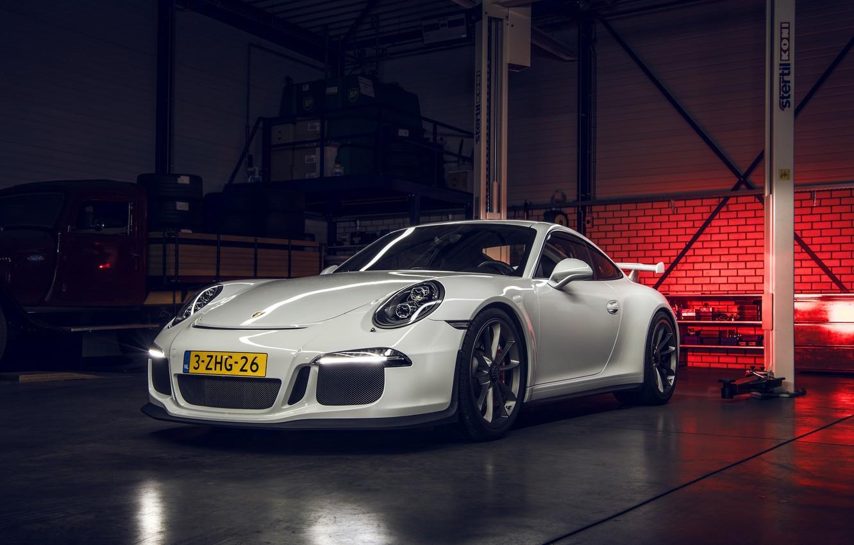 Photo wallpaper 911, Porsche, GT3, White