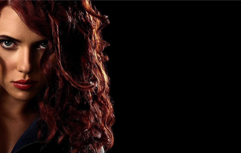 Wallpaper Scarlett Johansson, red, Iron Man 2, Black Widow