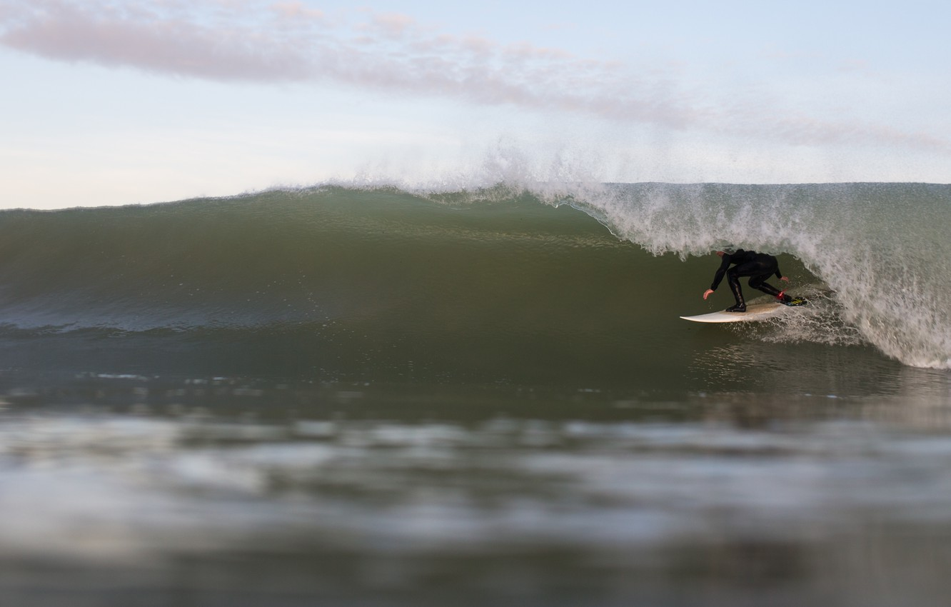 Photo wallpaper sea, wave, water, the ocean, the wind, Board, surfing, surfer, surf, surfer