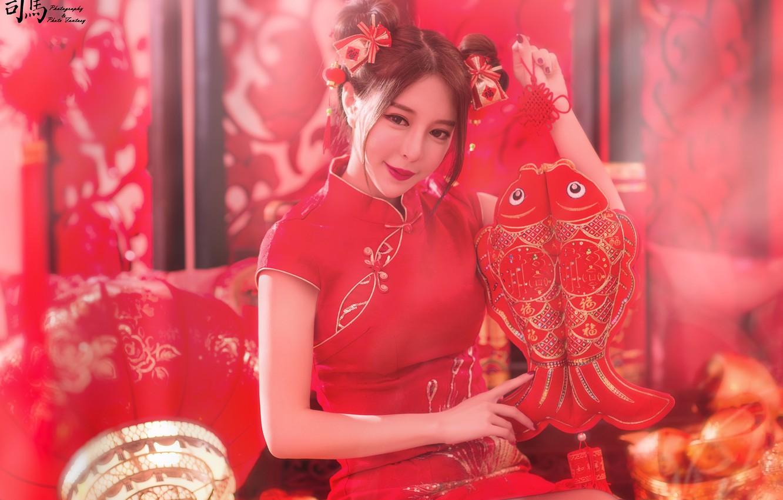Photo wallpaper hair, dress, Asian