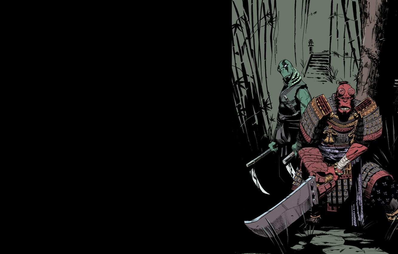 Photo wallpaper Comic, Art, Abe Sapien, Hellboy, Feudal Japan