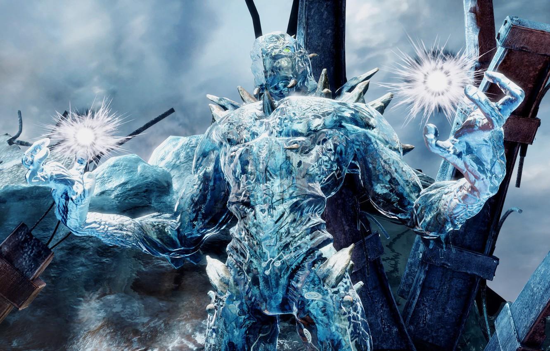 Photo wallpaper ice, game, alien, fighting, warrior, powerful, strong, Killer Instinct, Glacius