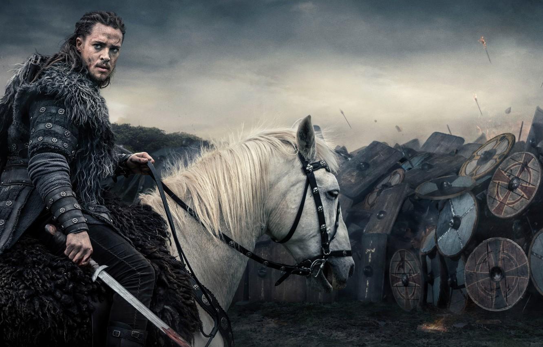 Photo wallpaper battlefield, sword, blood, British, armor, long hair, war, man, army, ken, blade, viking, shield, warrior, …