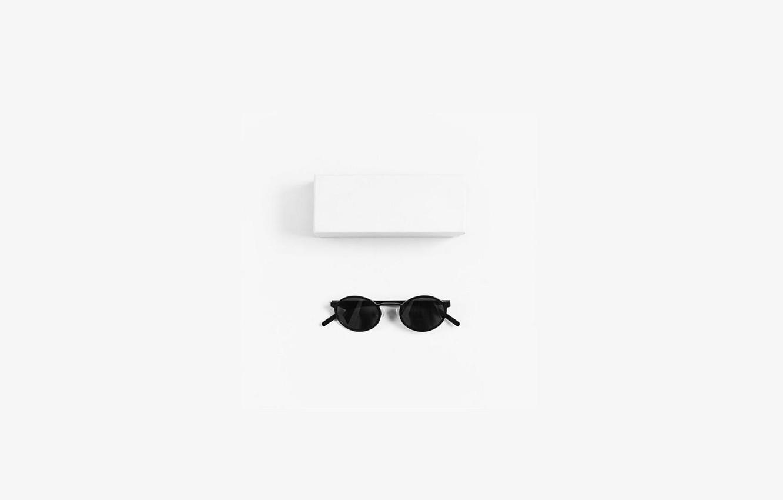 Photo wallpaper white, background, box, glasses, packaging