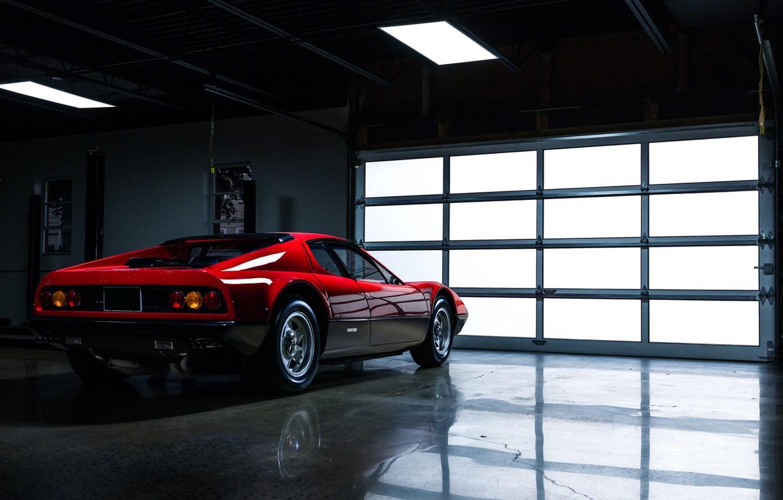 Photo wallpaper Auto, Machine, Ferrari, Ferrari, Garage, 365, Boxer, Berlinetta, Side view, Back, GT4, Jeremy Cliff, 365 …