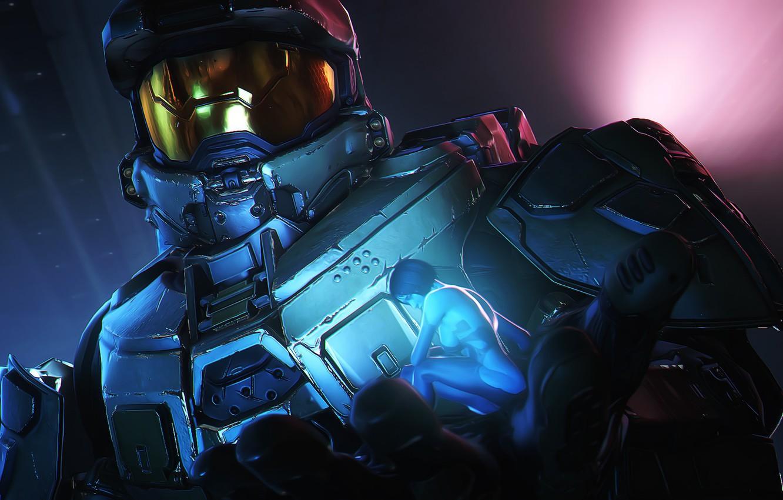 Wallpaper Rendering John 117 Cortana Armor Halo Master Chief