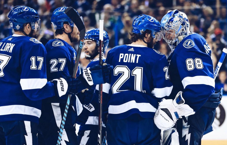 Photo wallpaper Sport, Zipper, Lightning, Lightning, NHL, NHL, Hockey, National hockey League, Hockey, Wasilewski, Point, Hockey League, …