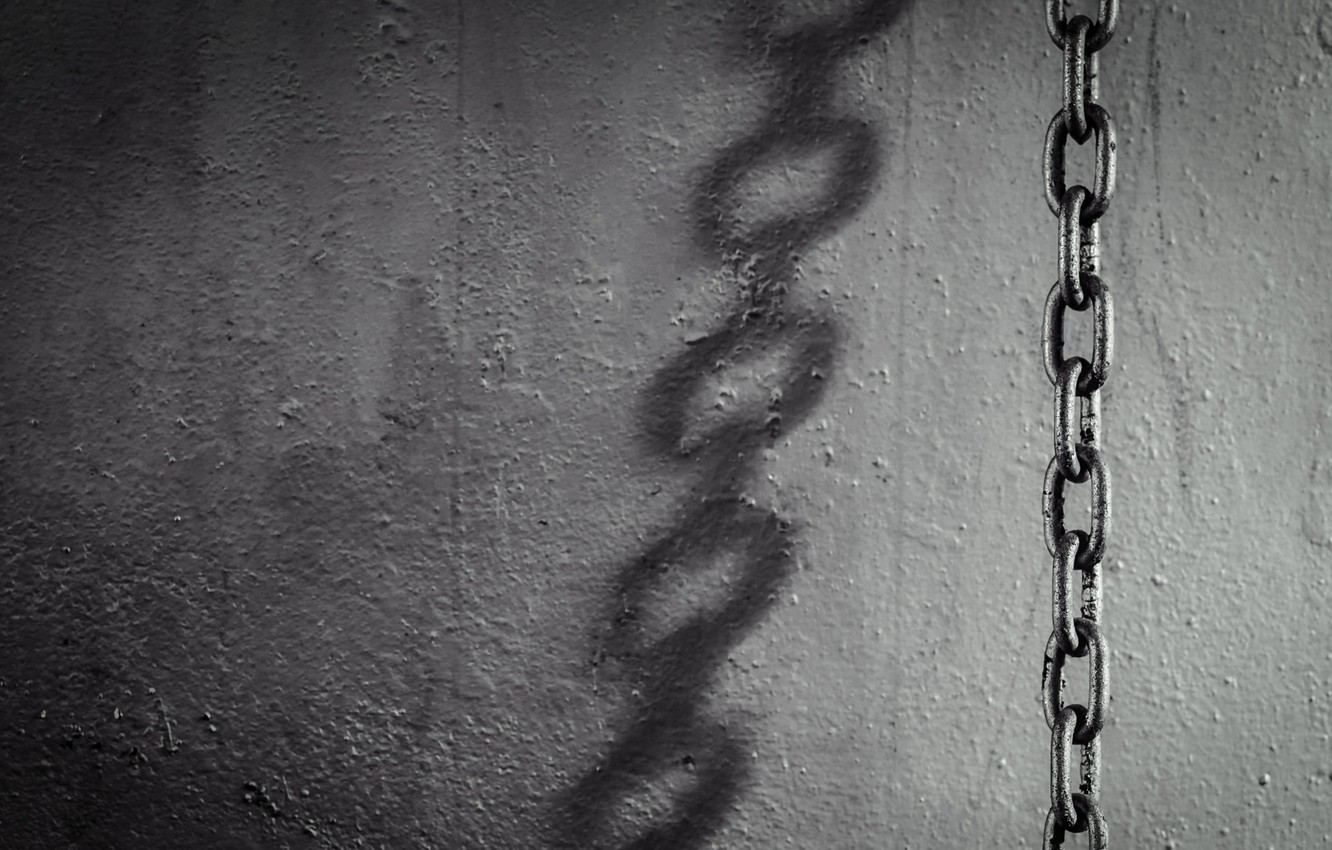 Photo wallpaper background, wall, chain