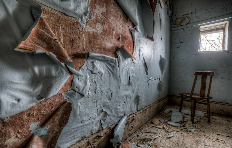Photo wallpaper wall, window, chair