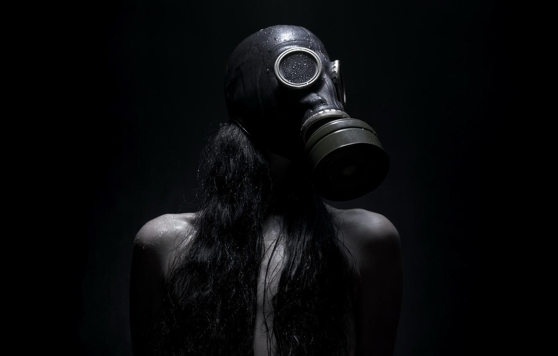 Wallpaper Girl Background Gas Mask Images For Desktop
