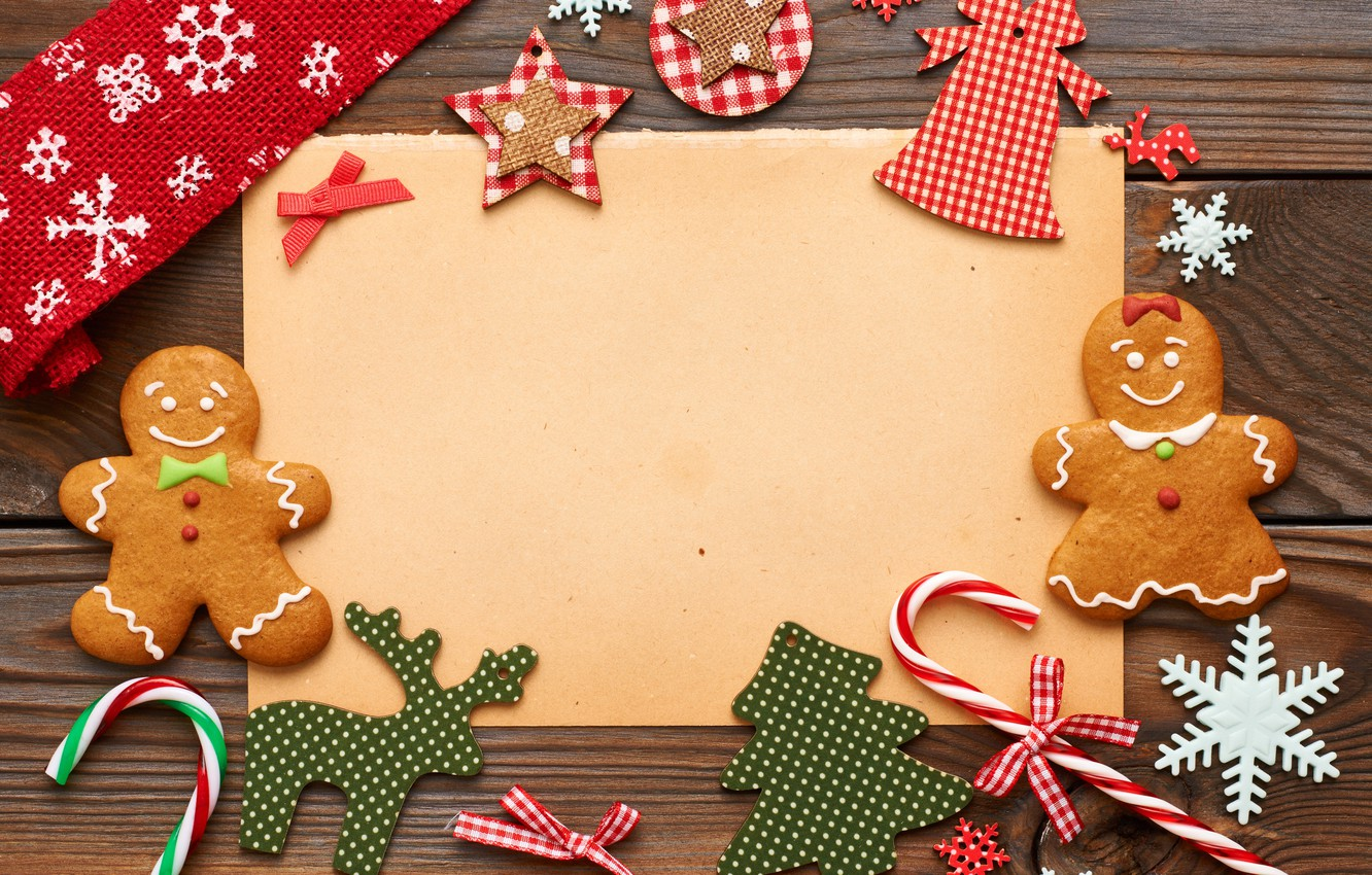 Christmas Cookies Wallpaper.Wallpaper Decoration New Year Cookies Candy Merry