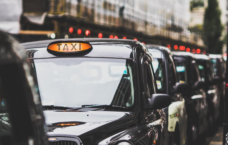 Photo wallpaper the city, street, London Taxi