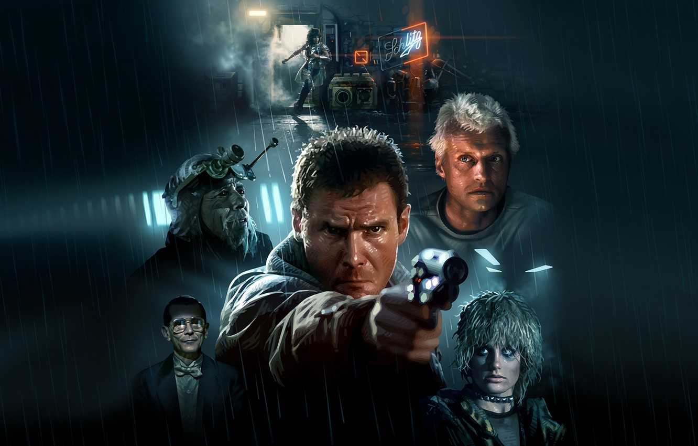 Photo wallpaper Harrison Ford, Blade Runner, Cyberpunk