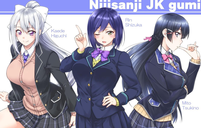 Photo wallpaper Girls, Form, Trio, Nijisanji