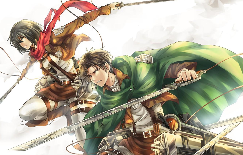Wallpaper Anime Art Mikasa Shingeki No Kyojin Eren