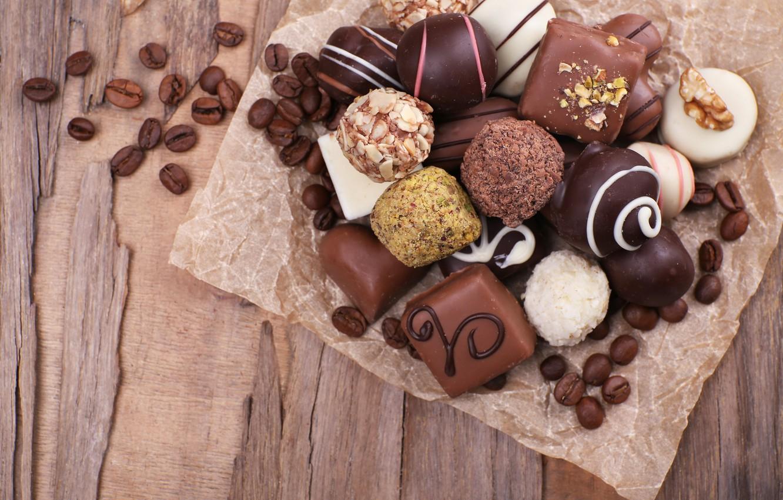 Photo wallpaper chocolate, dessert, Coffee, chocolate, beans, candy, chocolates