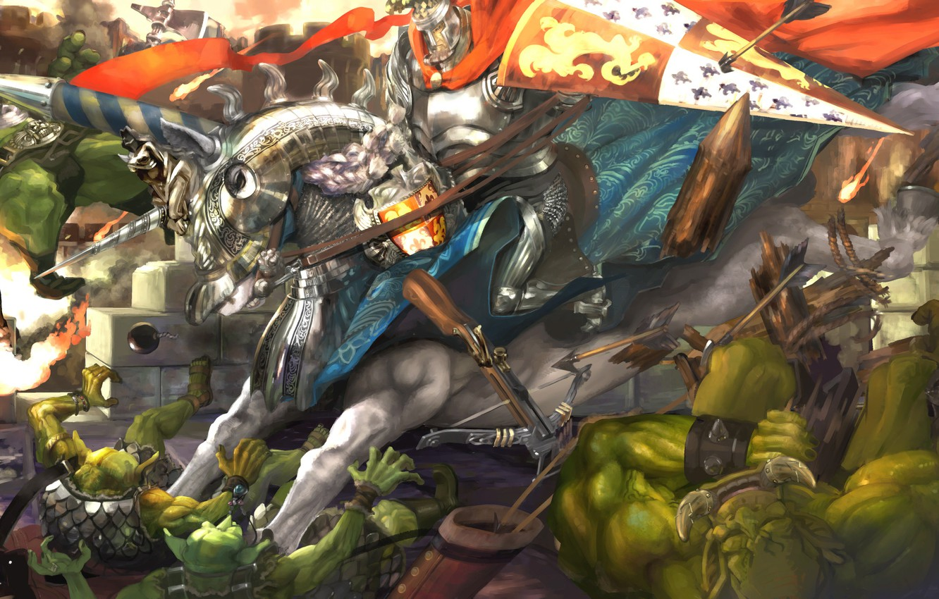 Photo wallpaper warrior, Dragon's Crown, goblins
