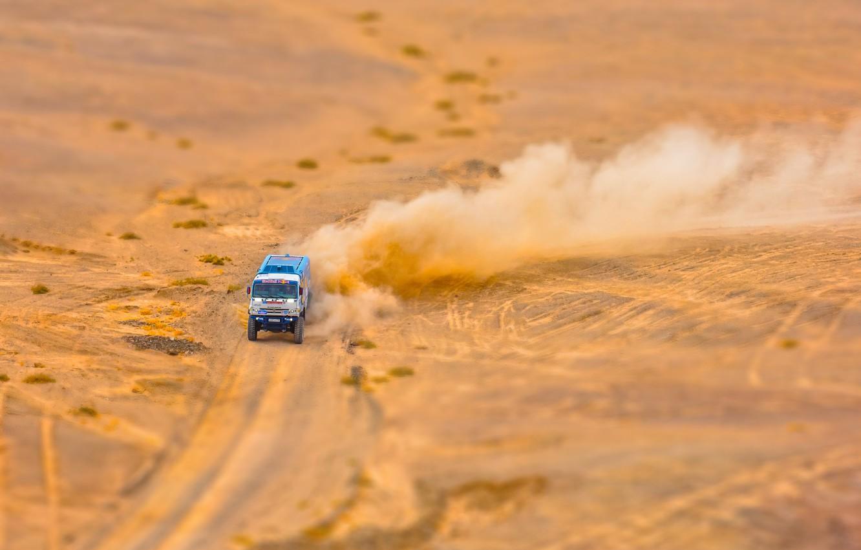 Photo wallpaper The sky, Sand, Nature, Sport, Speed, Truck, Race, Master, Beauty, Russia, Beast, Kamaz, Rally, Rally, …