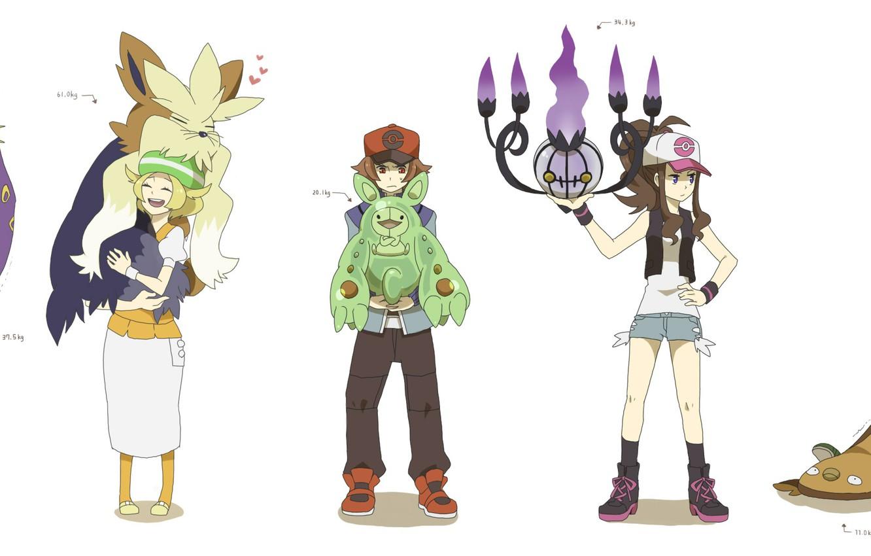 Photo wallpaper children, anime, art, characters, Pokemon, pokemon
