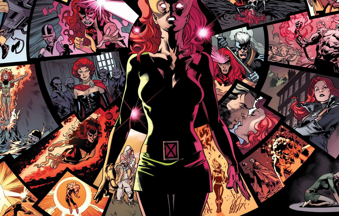 Photo wallpaper memories, red, comic, Phoenix, Marvel Comics, Jean Grey, Jean Grey, X-men, telepathy
