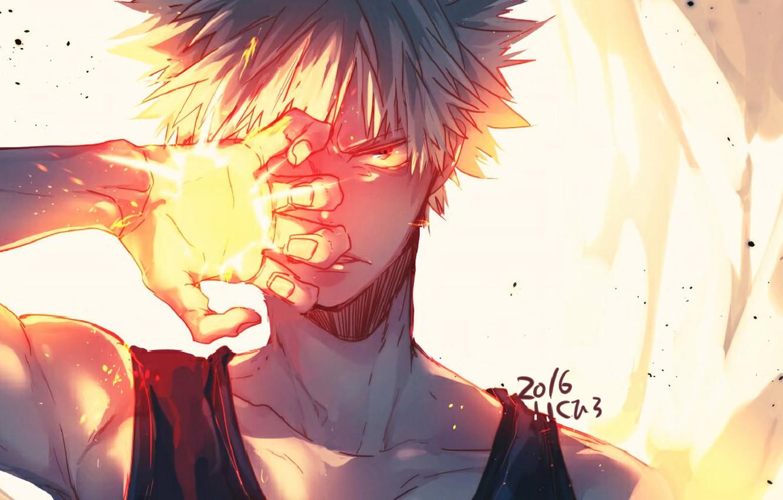 Photo Wallpaper Anime Art Hero Guy Boku No Hero Academy My